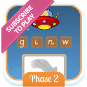 Play 'Alien Escape (Phonics Phase 2)'