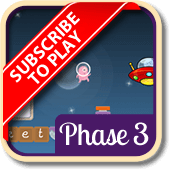 Play 'Alien Escape (Phonics Phase 3)'