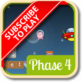 Play 'Alien Escape (Phonics Phase 4)'