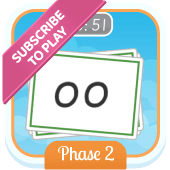 Play 'Flash Cards (Time Trial) (Phonics Phase 2)'