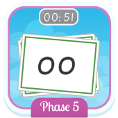 Play 'Flash Cards (Time Trial) (Phonics Phase 5)'
