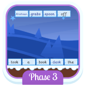 Play 'Sentence Substitution (Phonics Phase 3)'