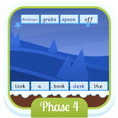 Play 'Sentence Substitution (Phase 4)' - Phonics Game